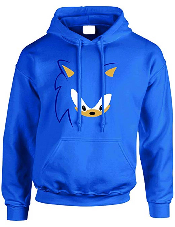 Sonic The Hedgehog Hoodie Blue Cotton Cosplay Hoodie