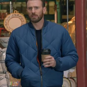 Super Bowl Chris Evans Bomber Jacket