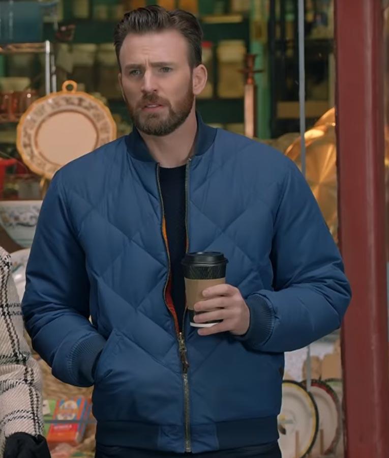 Super Bowl Chris Evans Bomber Jacket