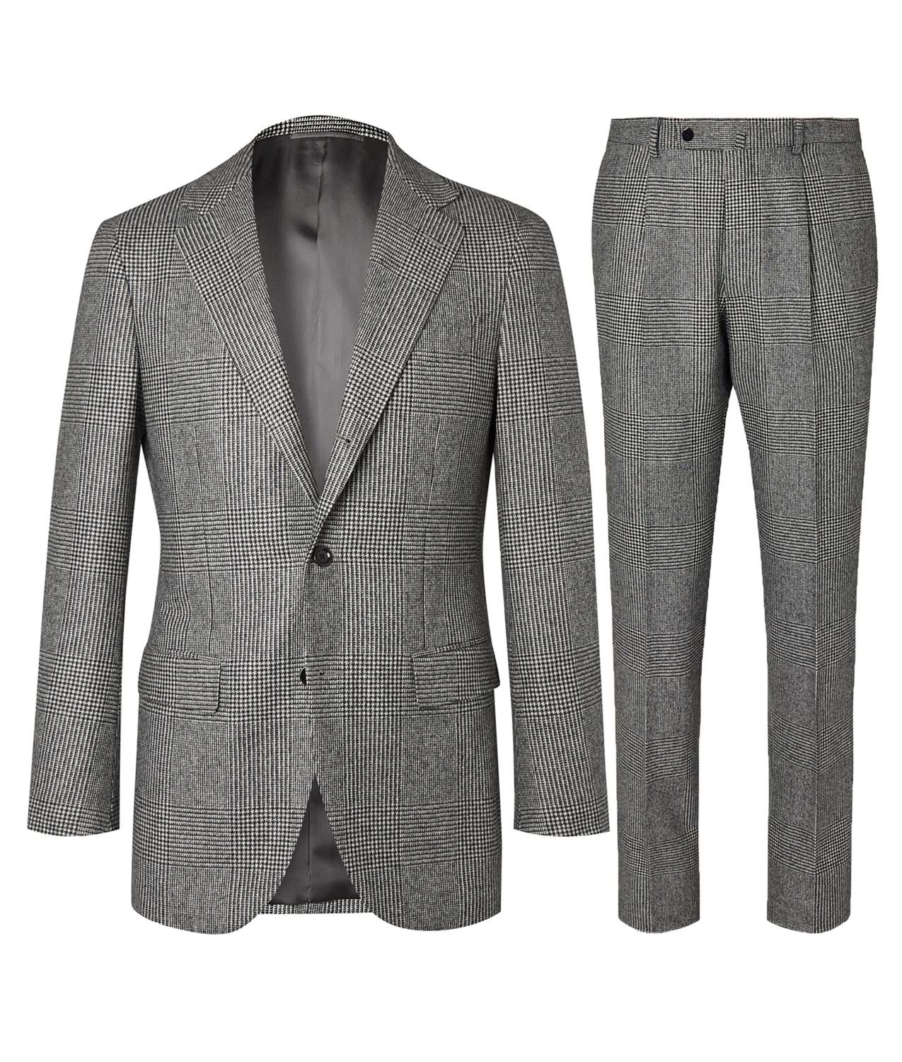 No Time To Die Grey Glen-Check Suit