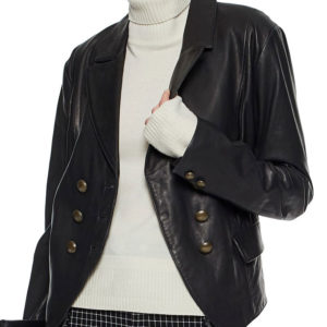 Riverdale Alice Cooper Black Leather Blazer