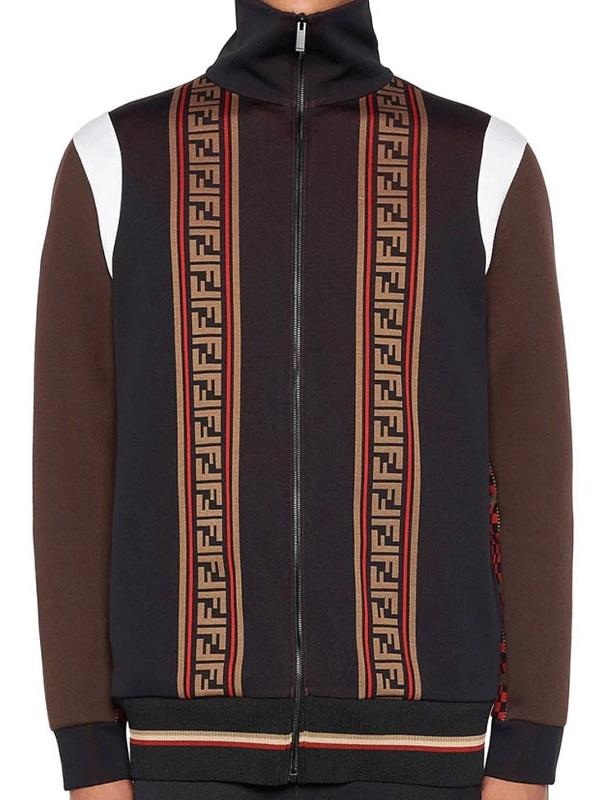 Cotton Fleece Black & Brown Kenya Barris