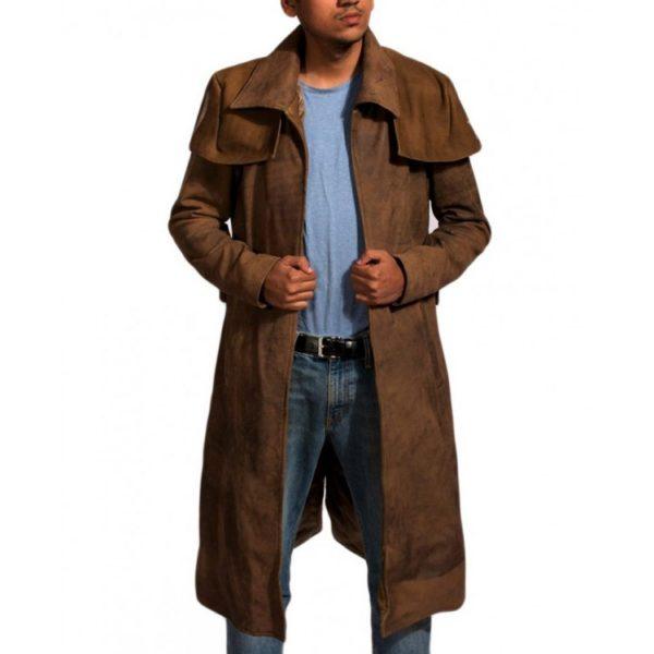 Veteran Brown Leather Coat