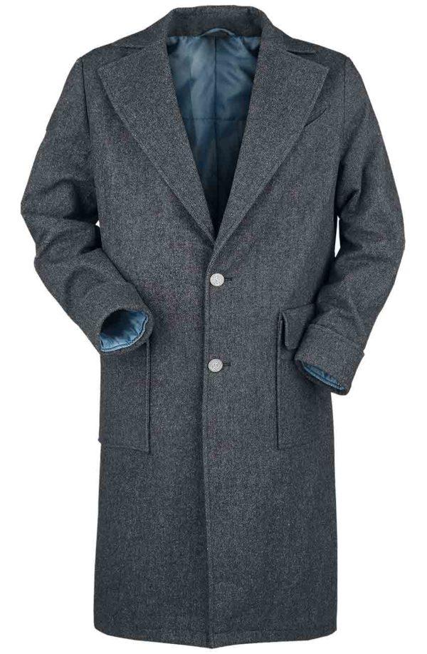 Eddie Redmayne Grey Coat