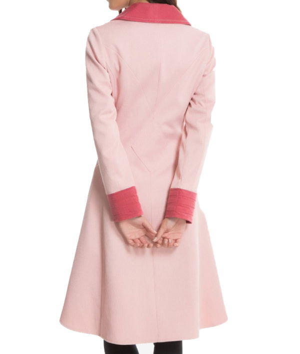 Alison Sudol Pink Coat