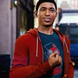 Spider-Man PS4 Miles Morales Red Hoodie