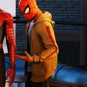 Spider-Man PS4 Miles Morales Brown Hoodie