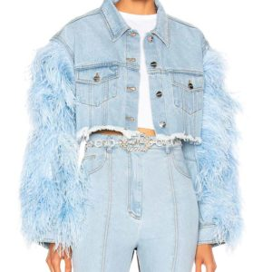 Dynasty Vanessa Feather Denim Jacket