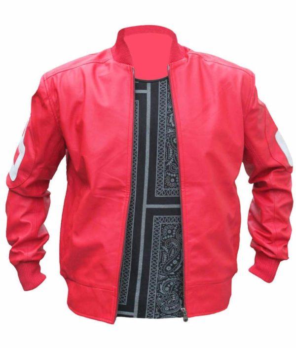8 Ball Pink Bomber Jacket