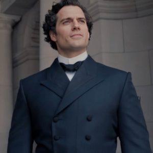 Sherlock Holmes Enola Holmes Henry Cavill Double-Breasted Trench Coat