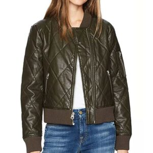 Raven Reyes The 100 Season 6 Quilted Bomber Jacket
