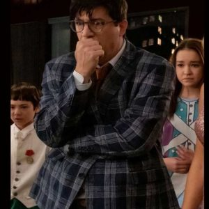 The Sleepover Ken Marino Check Blazer