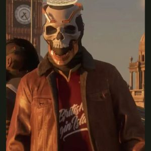 Watch Dogs Legion Ian Robshaw Leather Jacket