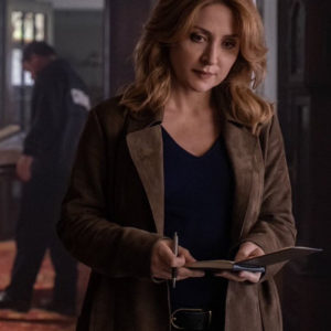 Dangerous Lies Sasha Alexander Leather Coat
