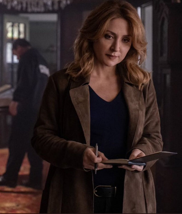 Dangerous Lies Sasha Alexander Leather Coat