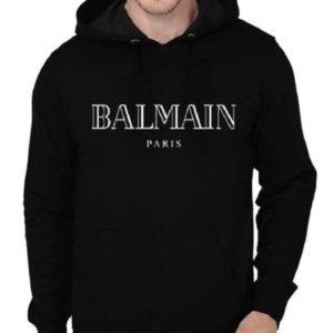 Balmain Paris Black Hoodie