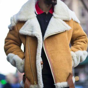 Andrew Tan Biker Shearling Jacket