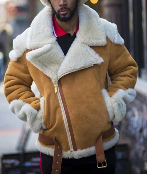 Andrew Tan Biker Shearling Jacket