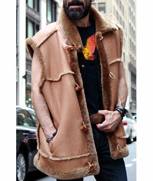 Jasper Camel Shearling Fur Leather Vest