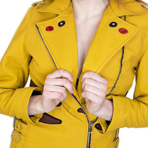 Pikachu-Pokemon-Yellow-Leather-Jacket