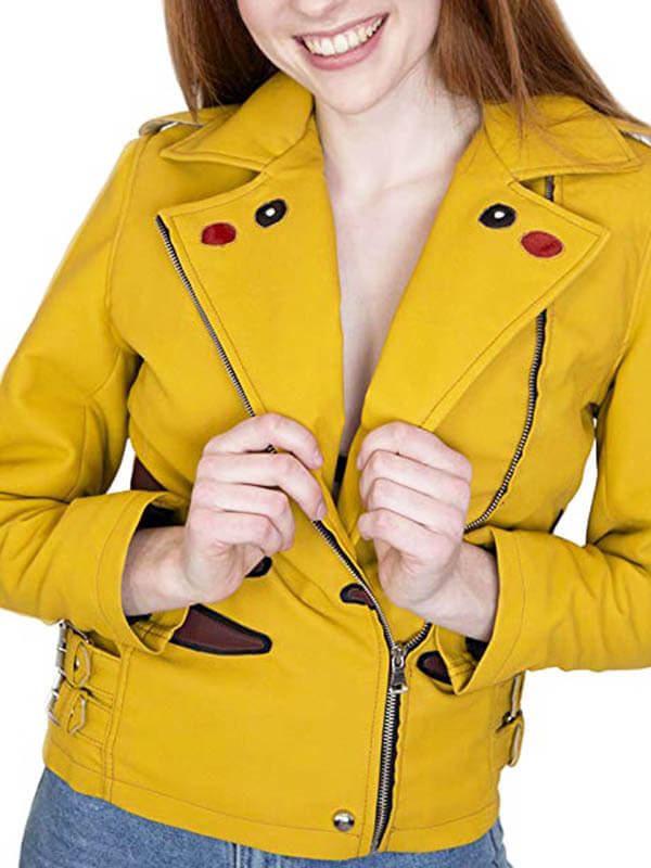 Pikachu-Pokemon-Yellow-Leather-Jacket