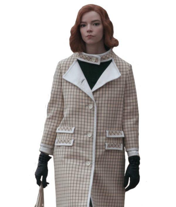 Joy Checkered Coat-Anya-Taylor