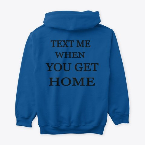 Text-Me-Hoodie-Pullover