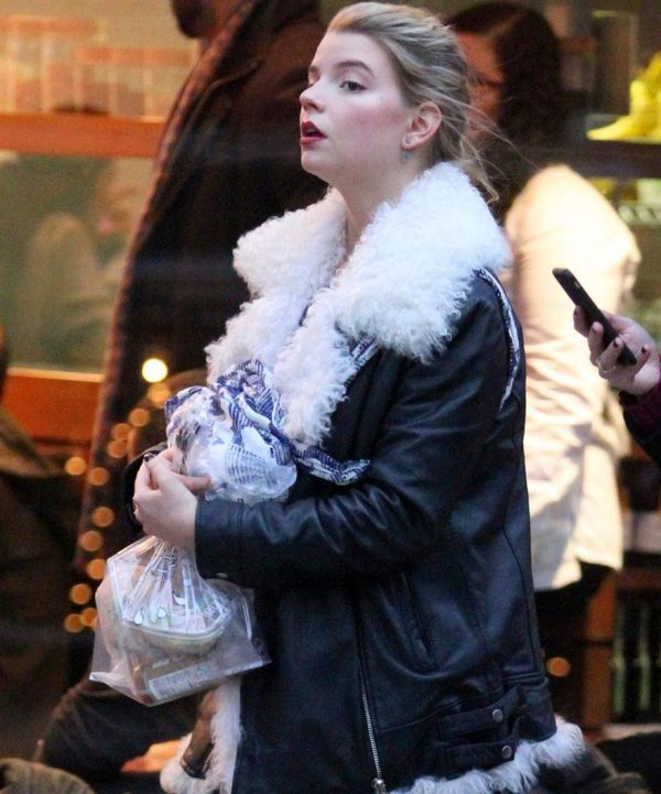 Ana Taylor Joy Fur Jacket