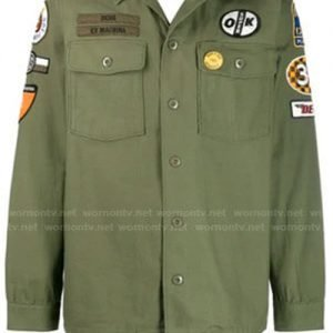 Andre 'Dre' Johnson Black-ish Anthony Anderson Green Military Shirt Jacket