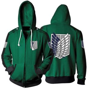 Attack On Titan Logo Hoodie Jacket For Unisex