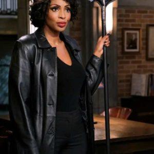 Lisa Berry Tv Series Supernatural Season 15 Billie Trench Black Leather Coat