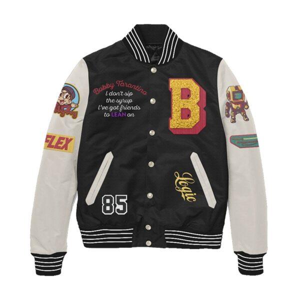 Bobby Tarantino Black and White Letterman Jacket