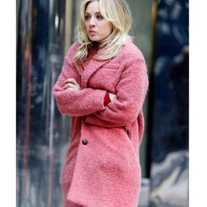Kaley Cuoco The Flight Attendant Cassie Trench Pink Coat