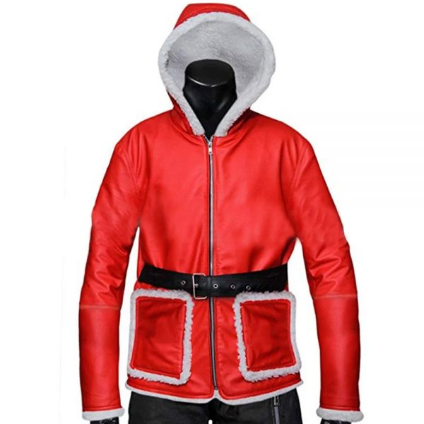 Red Santa Claus Christmas Costume Jacket