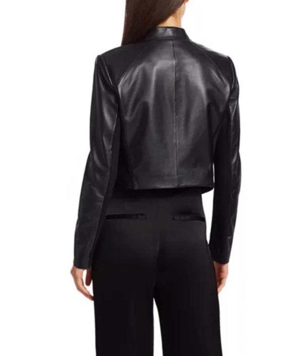 Emily In Paris Emily Cooper Black Leather Jacket