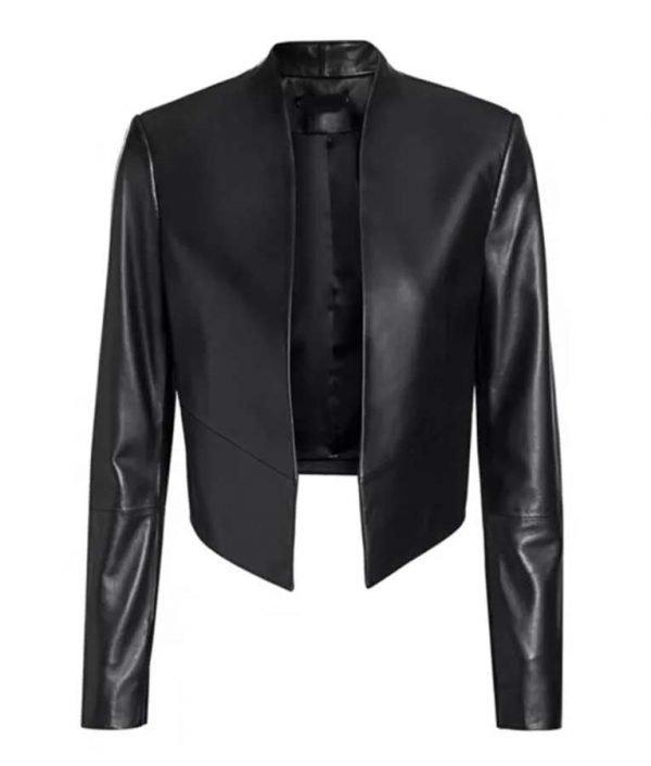 Emily Cooper Black Leather Jacket