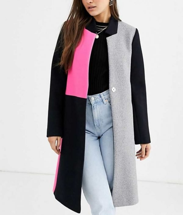 Color Block Coat Emily In Paris Coat