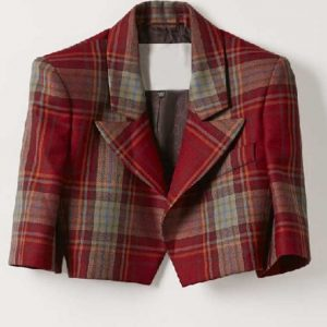Emily Cooper Emily In Paris Cropped Plaid Jacket