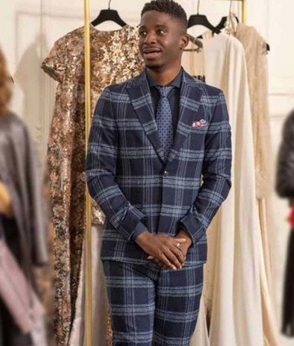 Julien Emily in Paris Samuel Arnold Checkered Suit