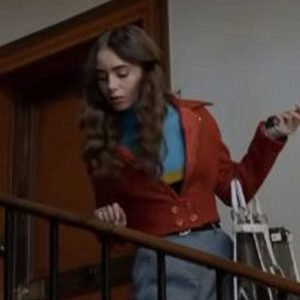 Emily Cooper Emily In Paris Lily Collins Brown Cotton Jacket