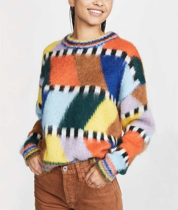 Emily Copper Colorful Fluffy Sweater