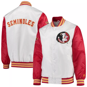 Seminoles The Legend Florida State Full-Snap White and Red Jacket