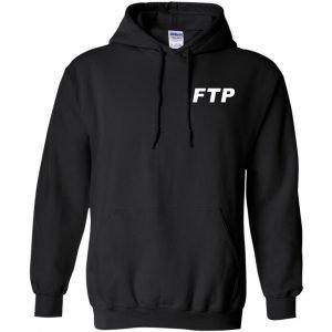 Ftp Logo Black Unisex Pullover Hoodie