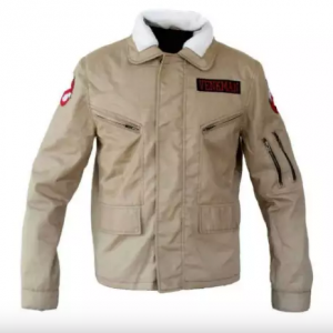 Afterlife Ghostbusters Brown Leather Jacket