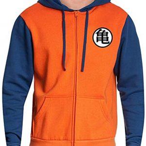 Goku Dragon Ball Z Vegeta Orange Unisex Pullover Hoodie