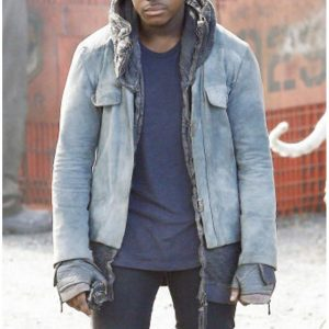 Maelstrom Pacific Rim Uprising John Boyega Leather Hooded Jacket