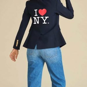 Jenna Bush Hager I Heart NY Navy Blue Double Breasted Blazer