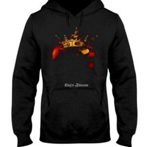 Black Crown Kings Disease Pullover Hoodie