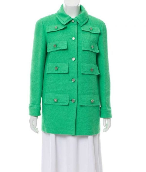 Emily In Paris Green Multi Pocket Coat