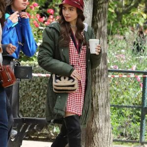 Emily Copper Emily in Paris Lily Collins Green Coat With Hood